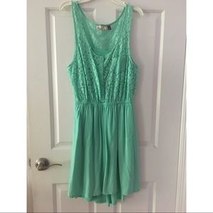 SO teal floral lace dress, lightly worn